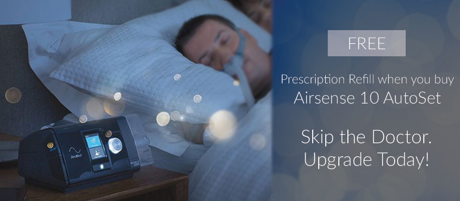 Free CPAP Prescription with Purchase of AirSense 10 AutoSet